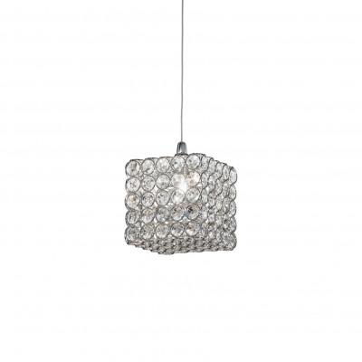 crystal pendant lamp ADMIRAL SP1 Ø15cm chrome
