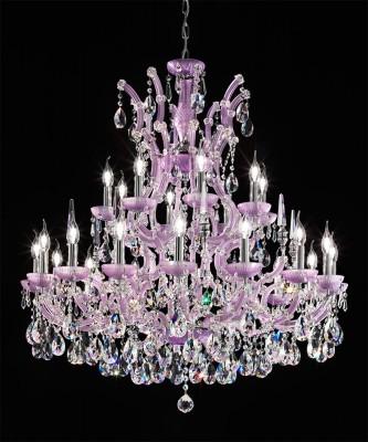 24 Arm Kronleuchter Ø103cm lila mit SPECTRA® Crystal von SWAROVSKI