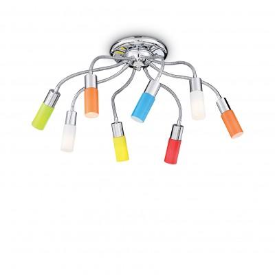 Deckenleuchte ECOFLEX 8-flammig Ø90cm color