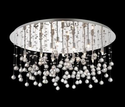 ceiling lamp MOONLIGHT 15-flames Ø80cm chrom or gold