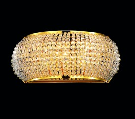 wall lamp PASHA 3-flames 25cm chrom or gold