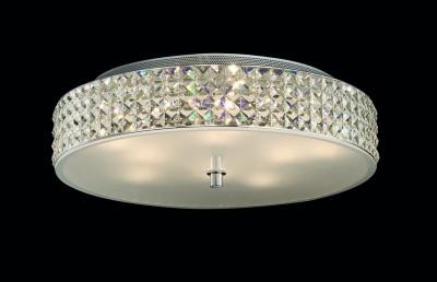 Kristall Deckenleuchter ROMA Ø50cm 9-flammig chrom