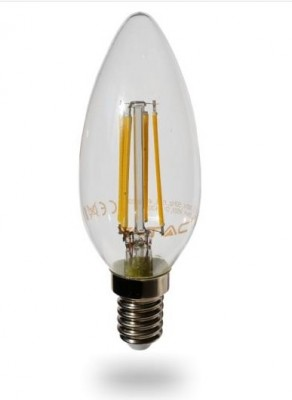 LED Lampe 4 Watt E14 Filament 470lumen, warmweiss, 2700K