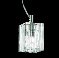 pendant lamp MARTINI SP1 Ø6,5cm transparent/chrome