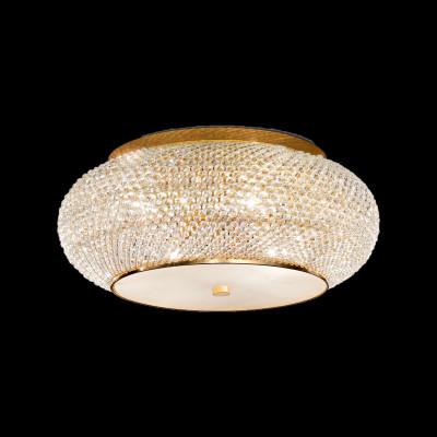 ceiling light 10-flames Ø55cm gold or chrom