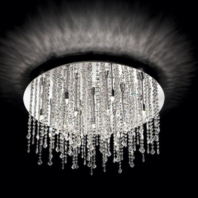 Kristall Deckenleuchter ROYAL Ø60cm 12-flammig chrom