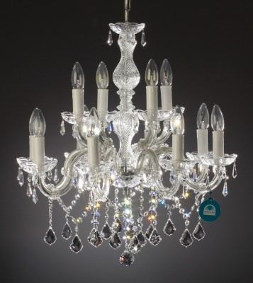 chandelier 12 arms made with SPECTRA® Crystal by SWAROVSKI MSRP 699¤
