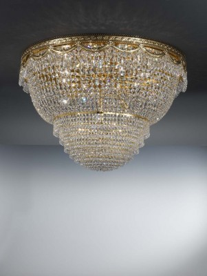 ceiling lamp PEGASO Ø80cm gold-plated or nickel-plated
