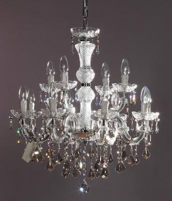 SWAROVSKI® Crystal Kronleuchter 12-armig Ø60cm silverteak
