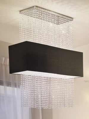 ceiling light SWAROVSKI Crystal 5-flames 90cm chrome, black