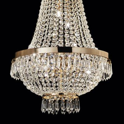chandelier CAESAR SP12 Ø55cm chrome or gold