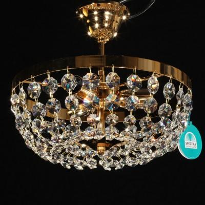 Deckenleuchter Ø30cm mit SPECTRA® Crystal von SWAROVSKI chrom od. gold