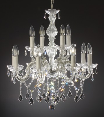 maria theresia chandelier 12 arms made with crystal