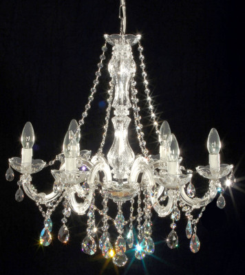 chandelier 6 arms made with crystal glass