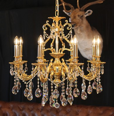 crystal chandelier 8 arms Ø72cm made with SPECTRA® Crystal by SWAR