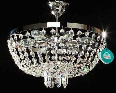 Deckenleuchter Ø 40 cm mit SPECTRA® Crystal von Swarovski chrom od. gold