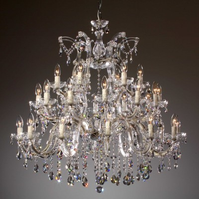 Venice crystal chandelier 30 arms brass or nickel