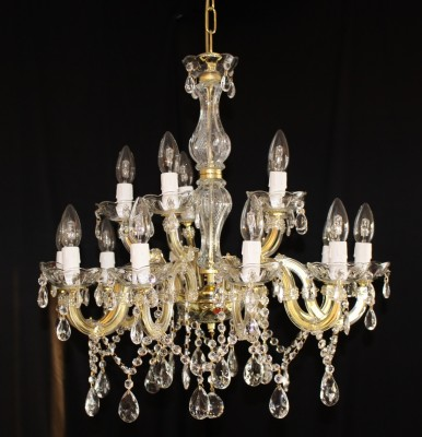 crystal chandelier 15 arms brass or nickel MSRP 399¤