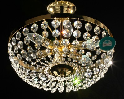 ceiling lamp Ø40cm made with SPECTRA® Crystal by Swarovski chrome or gold MSRP 899¤