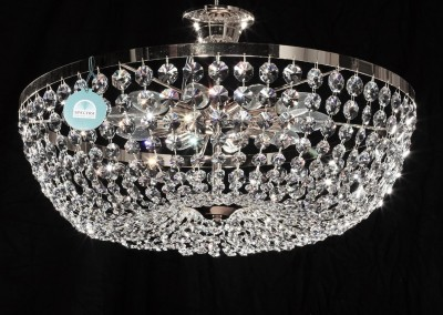 Deckenleuchter Ø60cm SPECTRA® Crystal von SWAROVSKI chrom od. gold