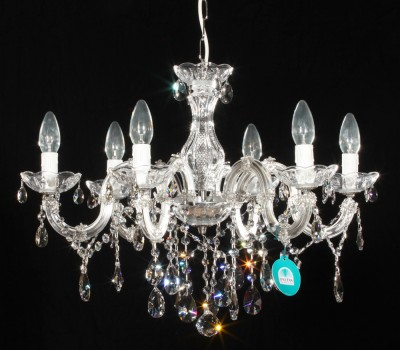 chandelier 6 arms made with SPECTRA® Crystal by SWAROVSKI MSRP 449¤
