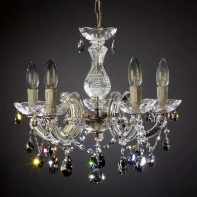 Kronleuchter 5-armig SPECTRA® Crystal von SWAROVSKI silber- od. goldfarben
