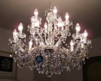 chandelier 18 arms made with SPECTRA® Crystal by SWAROVSKI MSRP 1299¤