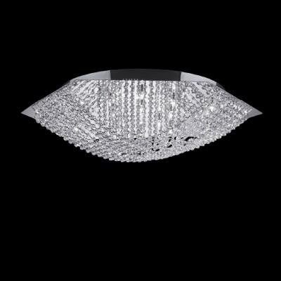 Deckenleuchte ESA 17-flammig Ø80cm chrom