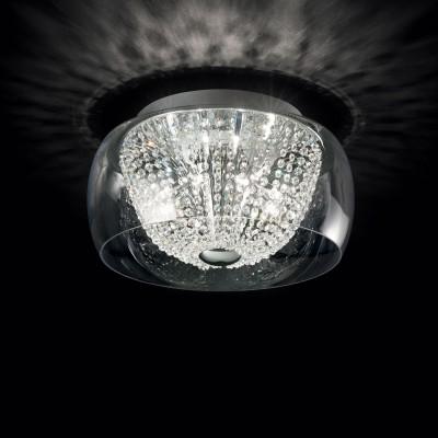 Kristall Deckenleuchter AUDI60 Ø40cm 8-flammig chrom