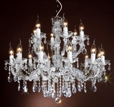 crystal chandelier 18 arms brass or nickel MRSP 699¤