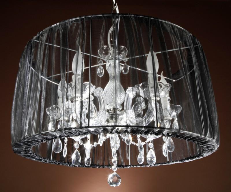 Kronleuchter Schirm Schwarz ~ Kronleuchter mit organza 8406915