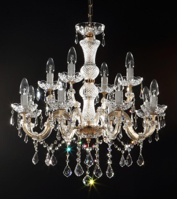 Lustre en cristal 12 bras Ø60cm avec SWAROVSKI® Crystal