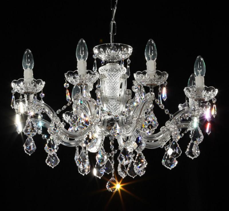 Kronleuchter 8 Armig Ø66cm Gefertigt Mit SPECTRA® Crystal Von SWAROVSKI