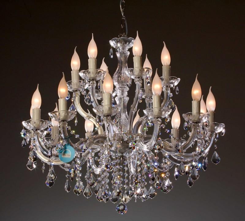 18 Arm Kronleuchter Ø 75 Cm, Gefertigt Mit SPECTRA® Crystal Von SWAROVSKI