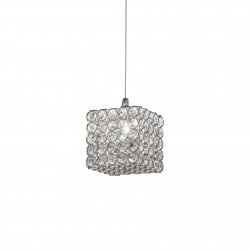 crystal pendant lamp ADMIRAL SP1 Ø15cm chrome