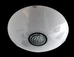 Deckenleuchter OBLO 3-flammig Ø40cm weiss