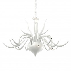 chandelier ELYSEE 24 arms Ø94cm white