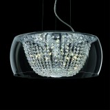 lamp Audi Ø 50 cm chrome with Swarovski Crystal