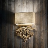 wall lamp PETER AP2 brown