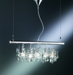 pendant luminaire 72cm high quality glass prisms