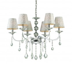 crystal chandelier PANTHEON 6-arms Ø70cm nickel