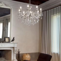 crystal chandelier 6 arms Ø60cm IMPERO