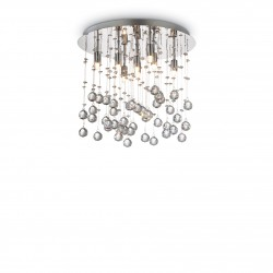 ceiling lamp MOONLIGHT PL8 Ø40cm chrome or gold