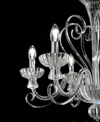 chandelier ALEXANDER 6 arms Ø 72cm transparent