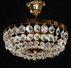 crystal ceiling lamp Ø30cm gold or chrome plated MSRP 199¤