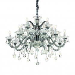 crystal chandelier COLOSSAL 15 arms gray or white Ø95cm