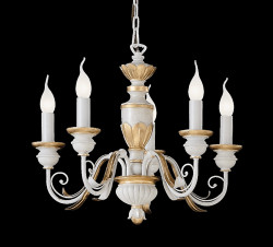 chandelier FIRENZE 5 arms Ø55cm cream-gold