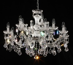crystal chandelier 12 arms nickel MSRP 1299¤