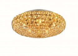 Kristall Deckenleuchter KING PL5 Ø38cm 5-flammig chrom od. gold