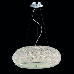 pendant light PASHA 10-flames Ø55 chrom or gold